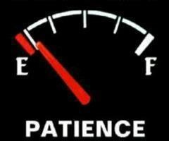 patience on empty